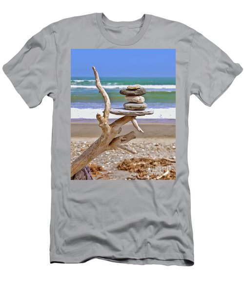 Drift Wood And Pebbles Men's T-Shirt (Athletic Fit)