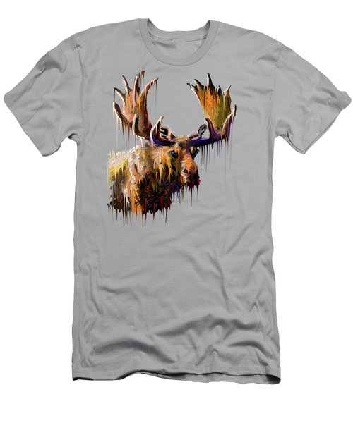 Dripping Moose Men's T-Shirt (Athletic Fit)