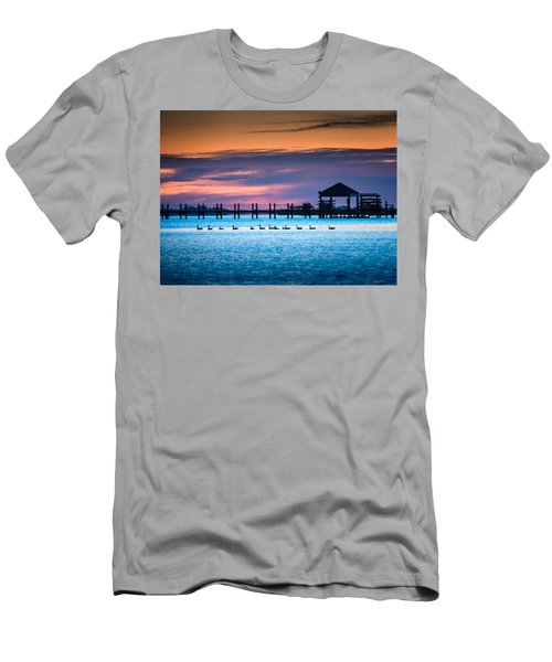 Duck Sunset - Outer Banks North Carolina Men's T-Shirt (Athletic Fit)