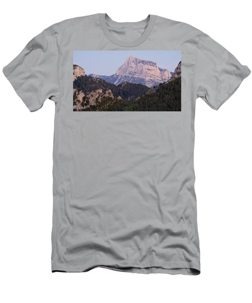 Men's T-Shirt (Athletic Fit) featuring the photograph Dusk At Pena Montanesa by Stephen Taylor
