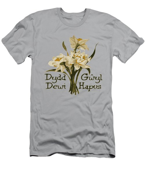 Dydd Gwyl Dewi Hapus Or Happy St Davids Day  Men's T-Shirt (Athletic Fit)