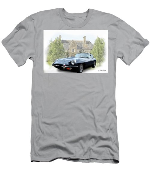 E Type Jaguar At Country House Men's T-Shirt (Athletic Fit)