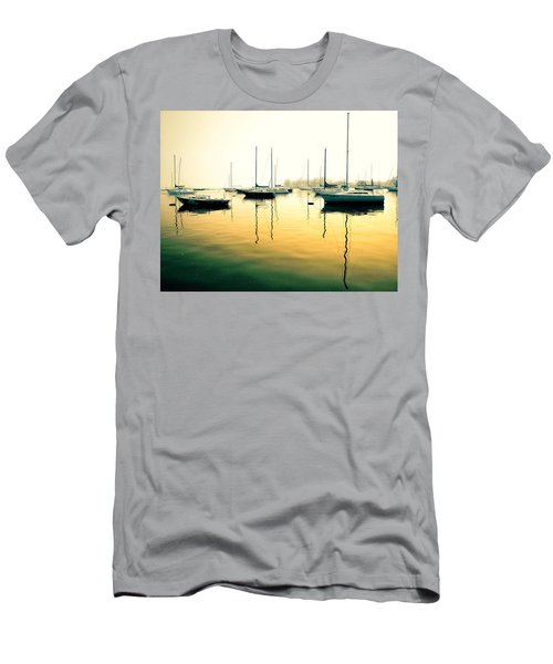 Early Mornings At The Harbour Men's T-Shirt (Athletic Fit)