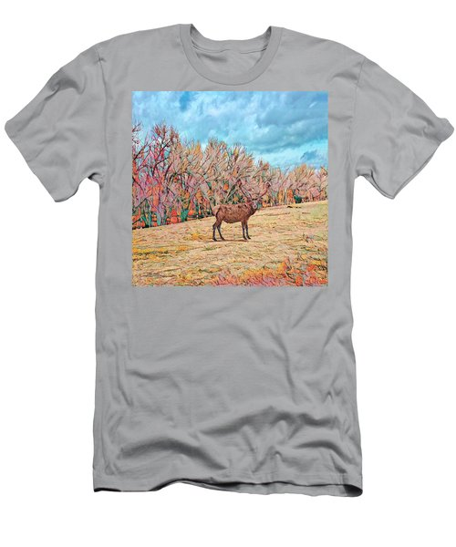 Men's T-Shirt (Athletic Fit) featuring the photograph East Of Kiowa by Mike Braun