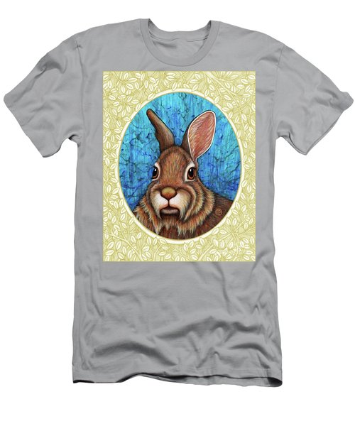 Eastern Cottontail Portrait - Cream Border Men's T-Shirt (Athletic Fit)