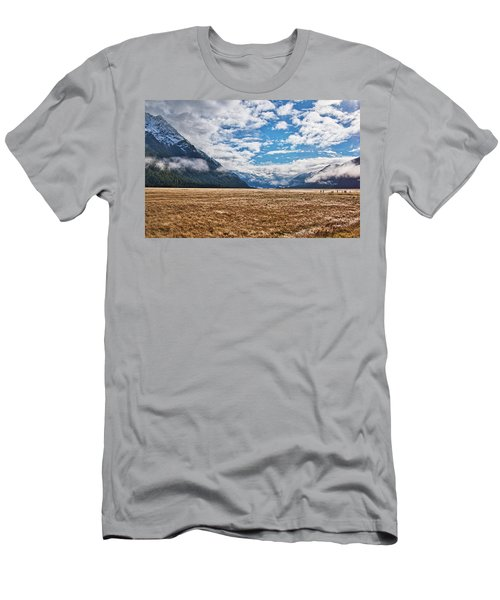 Men's T-Shirt (Athletic Fit) featuring the photograph Eglinton Valley - New Zealand by Steven Ralser