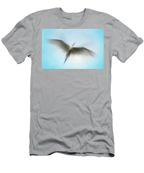 Egret In Motion Men's T-Shirt (Athletic Fit)