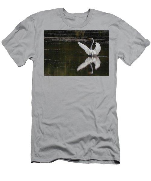 Egret Reflections Men's T-Shirt (Athletic Fit)