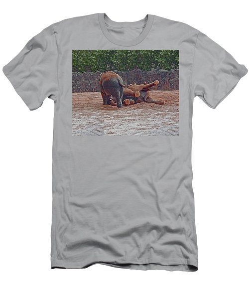 Elephants At Play Men's T-Shirt (Athletic Fit)