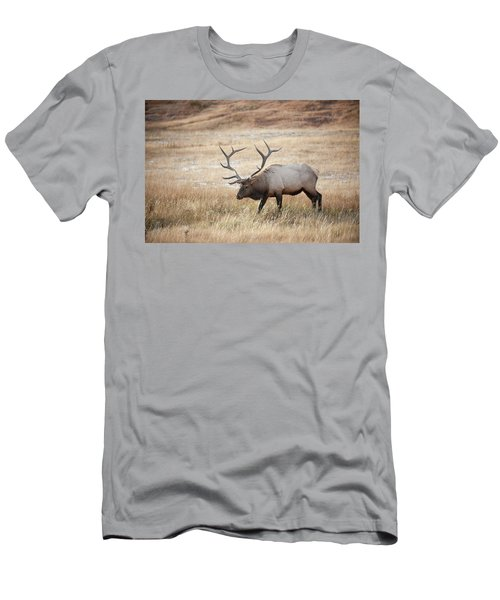 Elk In Yellowstone National Park Men's T-Shirt (Athletic Fit)