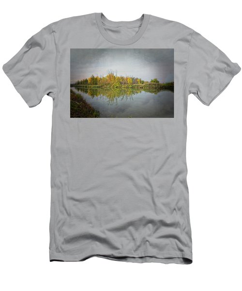 Men's T-Shirt (Athletic Fit) featuring the photograph Ellicott Creek Reflections by Guy Whiteley