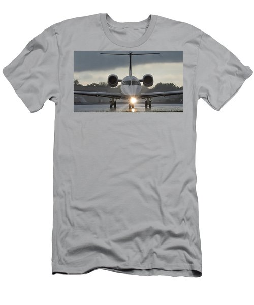 Men's T-Shirt (Athletic Fit) featuring the photograph Embraer 145 by Guy Whiteley