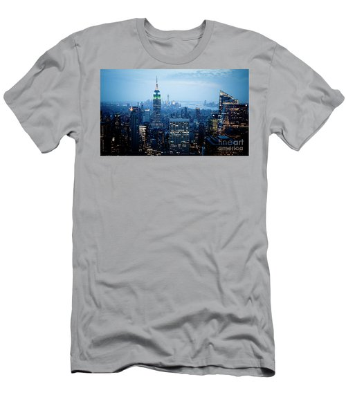 Empire In Blue Men's T-Shirt (Athletic Fit)