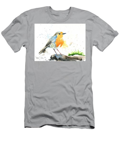 European Robin Men's T-Shirt (Athletic Fit)