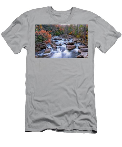 Men's T-Shirt (Athletic Fit) featuring the photograph Fall Flow by Russell Pugh