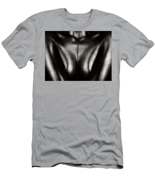 Female Nude Silver Oil Close-up 2 Men's T-Shirt (Athletic Fit)