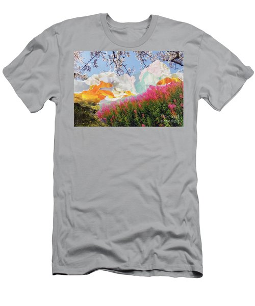 Field Of Glory Torn Paper Landscape Collage Men's T-Shirt (Athletic Fit)