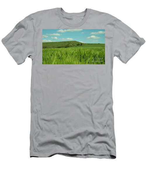 Field Of Green  Men's T-Shirt (Athletic Fit)