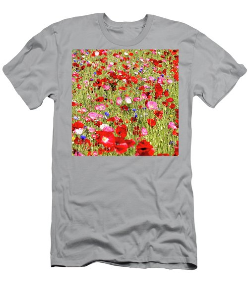 Field Of Red Poppies Men's T-Shirt (Athletic Fit)