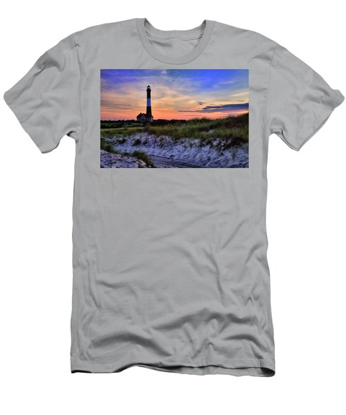 Fire Island Lighthouse Men's T-Shirt (Athletic Fit)