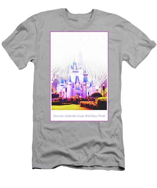 Fireworks, Cinderella's Castle, Magic Kingdom, Walt Disney World Men's T-Shirt (Athletic Fit)