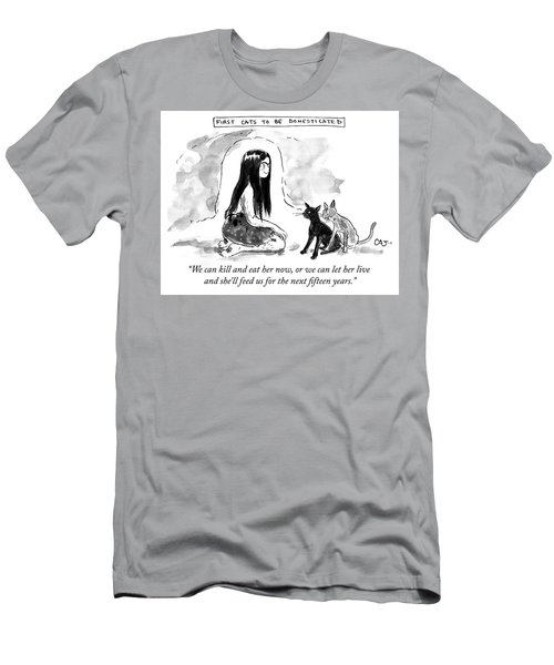 First Cats To Be Domesticated Men's T-Shirt (Athletic Fit)