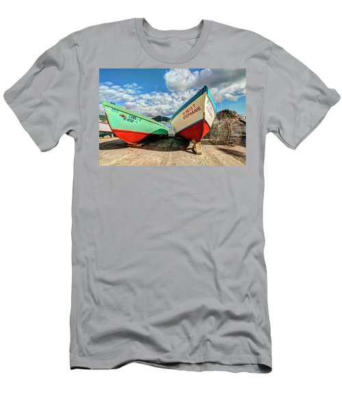Fishing Boats In Frenchtown Men's T-Shirt (Athletic Fit)