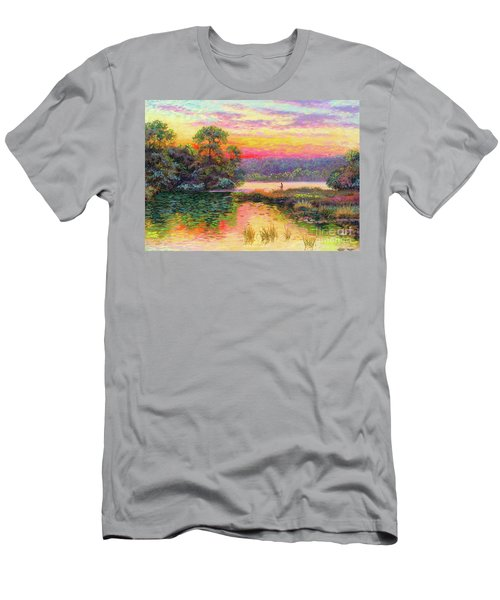 Fishing In Evening Glow Men's T-Shirt (Athletic Fit)