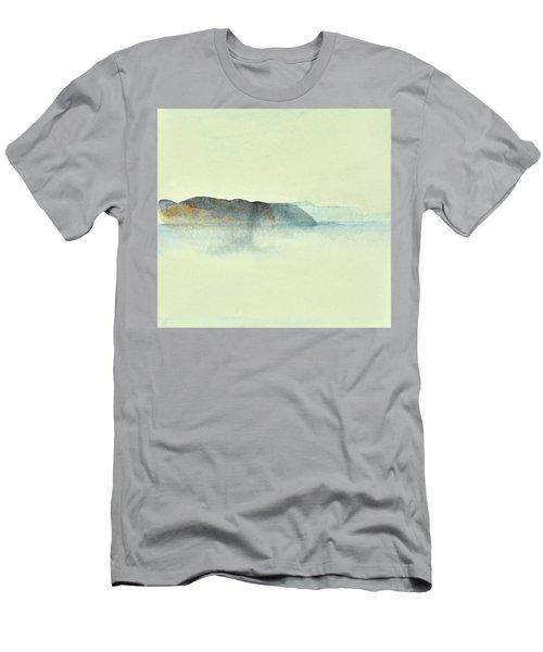 Fiske I Morgondis Hunnebo Vaestkusten   Fishing In Morning Haze Hunnebo Swedish Archipelago 76x73cm  Men's T-Shirt (Athletic Fit)