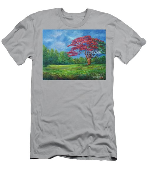 Flame Tree Men's T-Shirt (Athletic Fit)