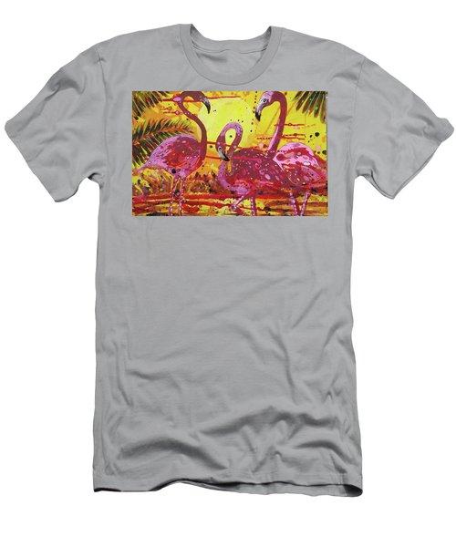 Flamingo Sunset Men's T-Shirt (Athletic Fit)