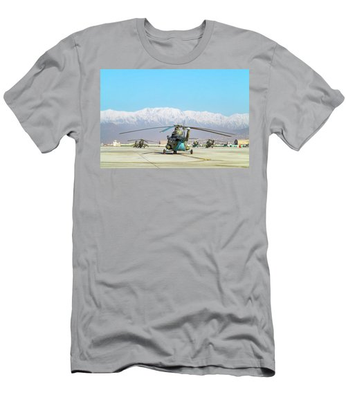 Men's T-Shirt (Athletic Fit) featuring the photograph Flight Line by SR Green
