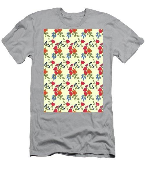 Flora Print, Cut Paper Men's T-Shirt (Athletic Fit)
