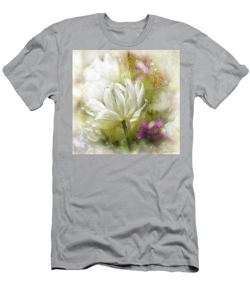 Floral Dust Men's T-Shirt (Athletic Fit)