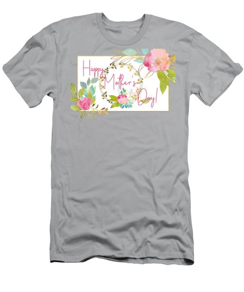 Floral Mother's Day Art Men's T-Shirt (Athletic Fit)