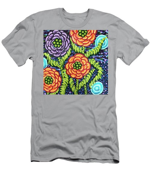 Floral Whimsy 5 Men's T-Shirt (Athletic Fit)