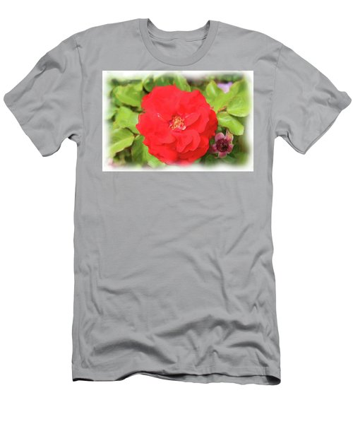 Flower Painting Men's T-Shirt (Athletic Fit)