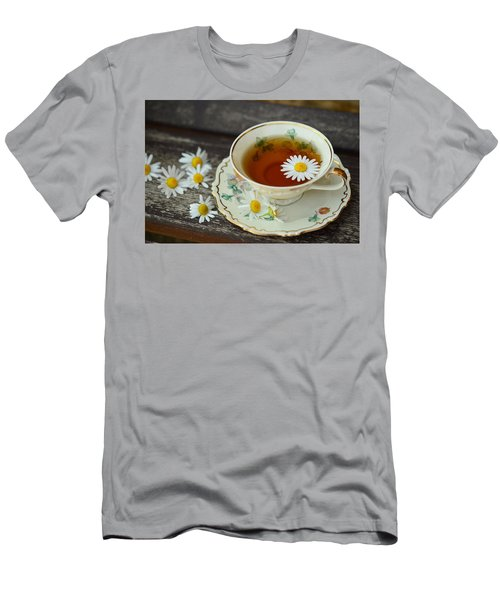 Flower Tea Men's T-Shirt (Athletic Fit)