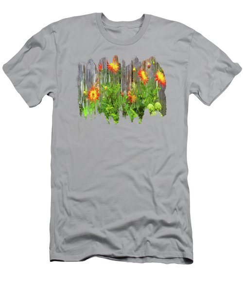 Flowers And Artichokes Men's T-Shirt (Athletic Fit)