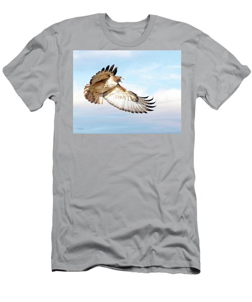Flying Red-tailed Hawk Men's T-Shirt (Athletic Fit)