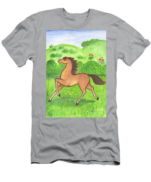 Foal In The Meadow Men's T-Shirt (Athletic Fit)