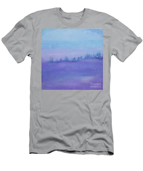 Men's T-Shirt (Athletic Fit) featuring the painting Fog Descending by Kim Nelson