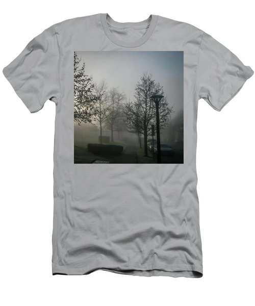 Men's T-Shirt (Athletic Fit) featuring the photograph Foggy Street by Juan Contreras