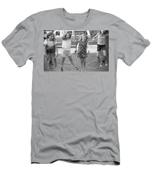 Four Girls, Jumping, 1972 Men's T-Shirt (Athletic Fit)