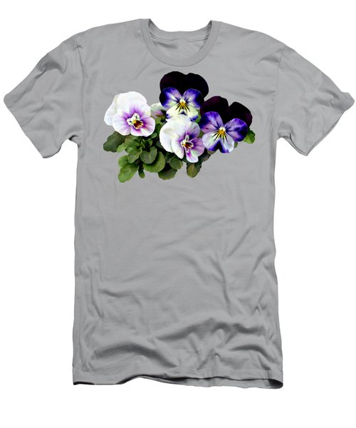 Four Pansies Men's T-Shirt (Athletic Fit)