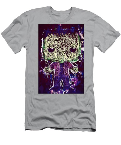 Men's T-Shirt (Athletic Fit) featuring the mixed media Frankenstein Pop by Al Matra