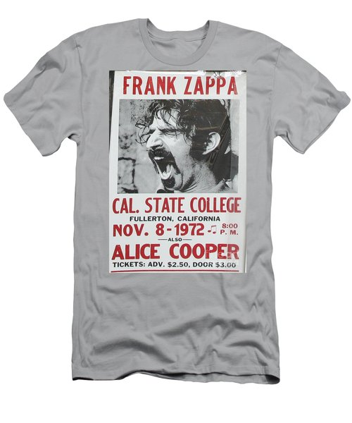 Frank Zappa Alice Cooper 1972 Poster Men's T-Shirt (Athletic Fit)