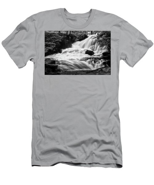 French Alps Stream Men's T-Shirt (Athletic Fit)
