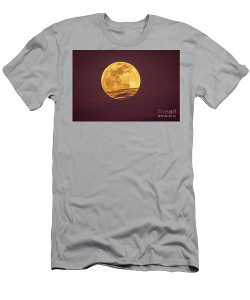 Full Moon Above Clouds Men's T-Shirt (Athletic Fit)