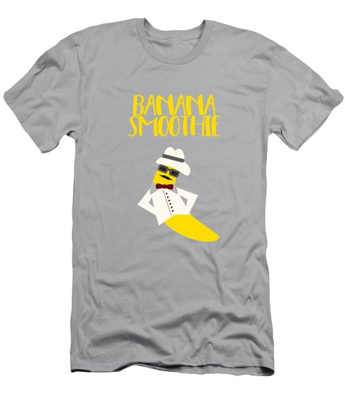 Funny Banana Smoothie With Text  Men's T-Shirt (Athletic Fit)